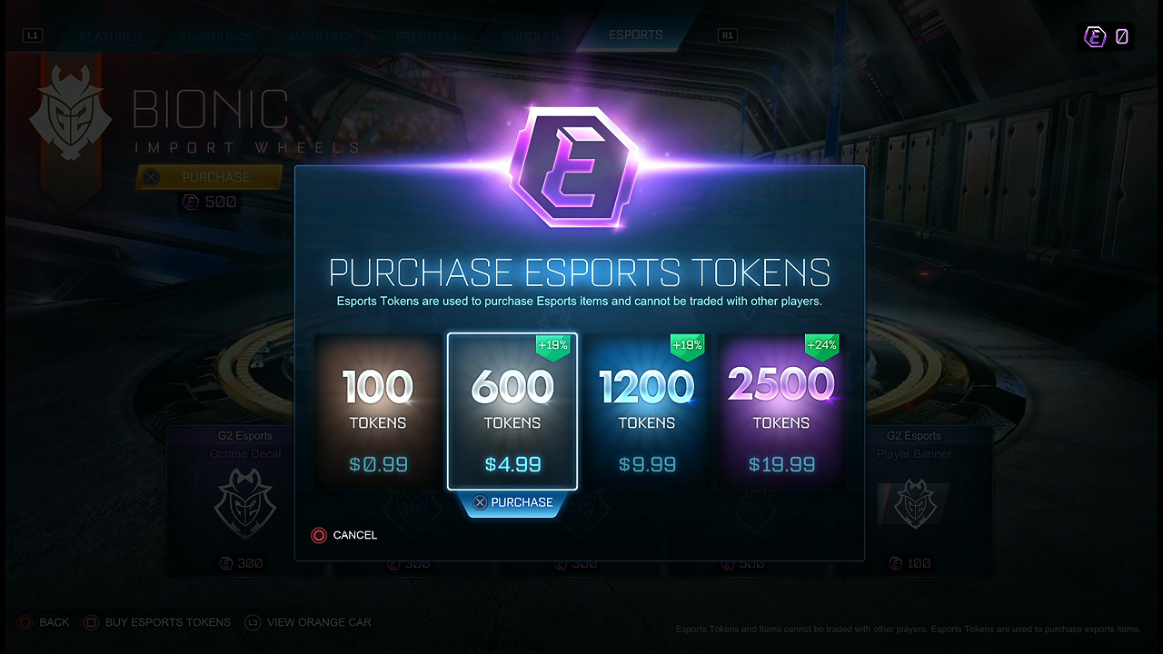Trade Must Purchase 500 Credits or Esports Tokens 5