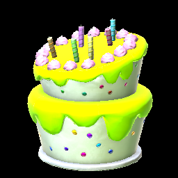 Lime Birthday Cake Prices Data On PS4 Rocket League Items