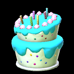 Sky Blue Birthday Cake Prices Data On STEAM PC Rocket League Items