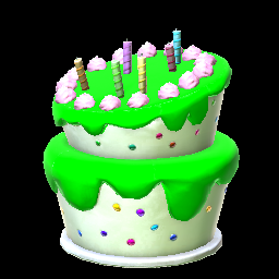 Birthday Cake Forest Green Prices Data On XBOX ONE Rocket League Items