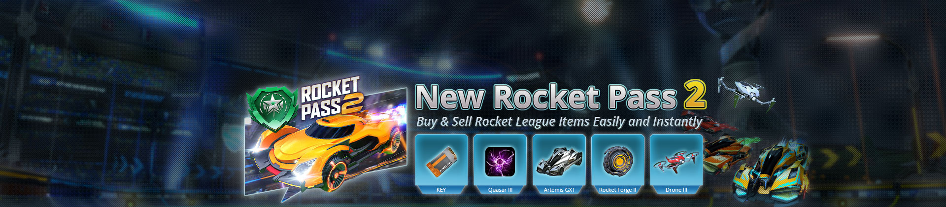 Rocket Pass 2 Items For Sale