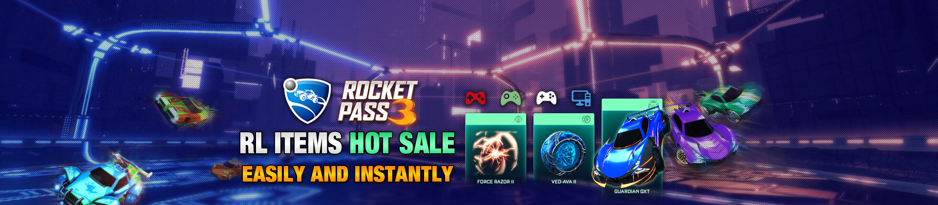 Buy Rocket League Rocket Pass 3 Items On RocketPrices