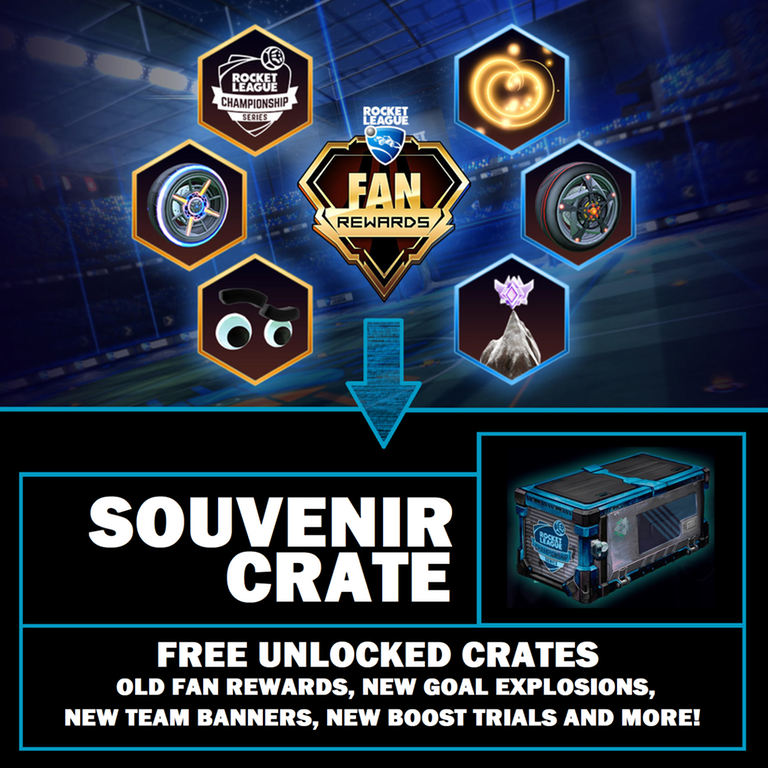 Rocket League Fan Rewards to ''Souvenir Crate System''