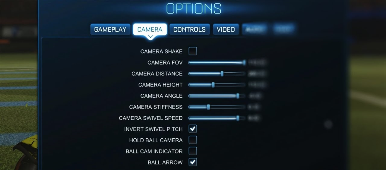 Rocket League Camera Settings And Controls Settings For