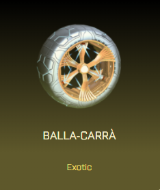 Rocket League Victory Crate - Exotic Wheels - Balla-Carrà