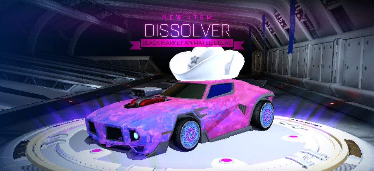 Rocket League Black Market decal - Dissolver