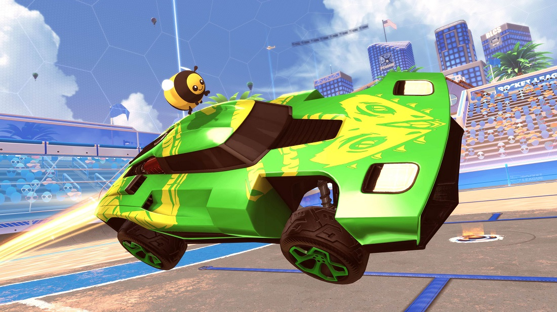 rocket league beach blast items 4 - topper & decal