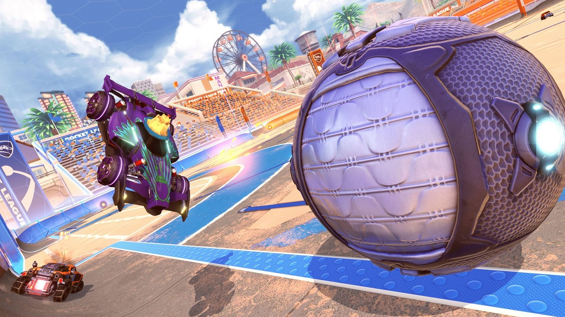rocket league beach blast items 5 - topper & decal