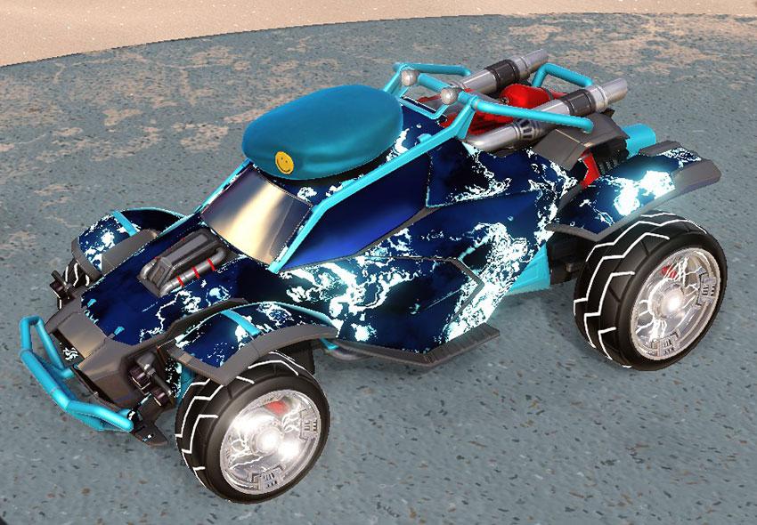 Fire God Rocket League Car Designs - 1
