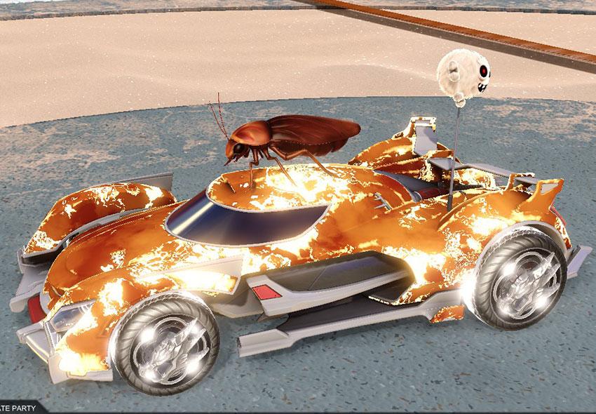 Fire God Rocket League Car Designs - 4