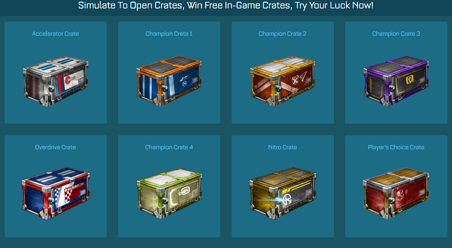 Simulate To Open Crates, Win Free In-Game Crates