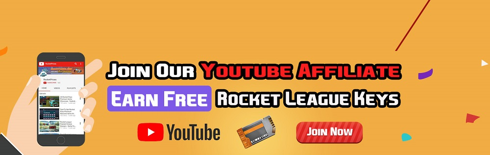 Join Our Youtube Video Affiliate, Earn Free Rocket League Keys At RocketPrices
