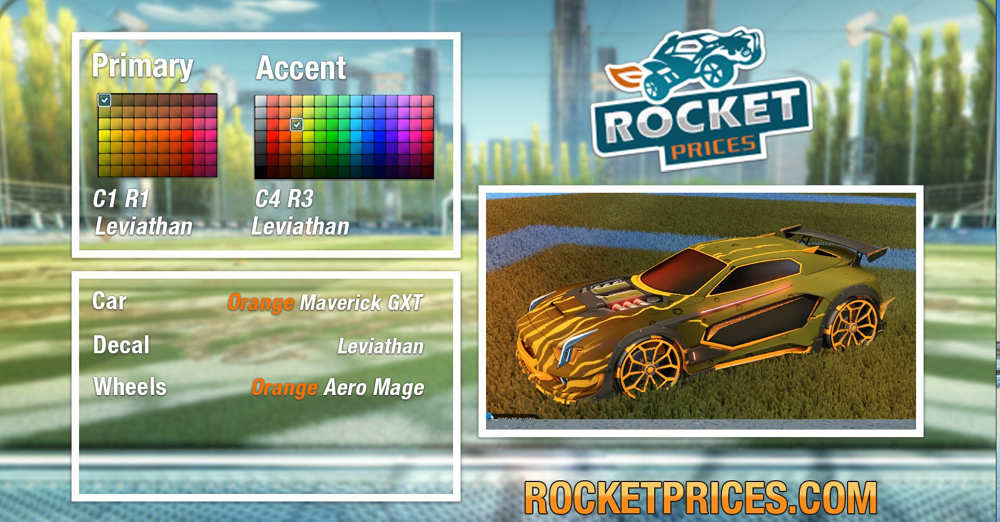 Rocket League Orange Maverick GXT