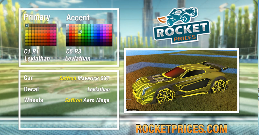 Rocket League Saffron Maverick GXT