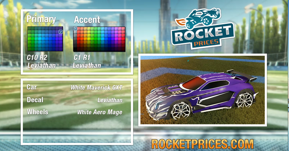 Rocket League White Maverick GXT