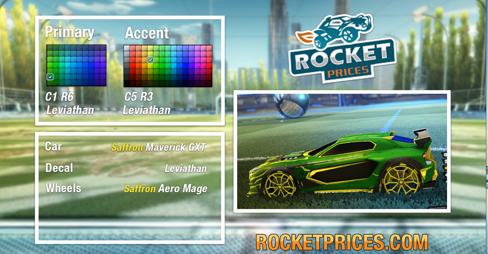 Rocket League Saffron Maverick GXT 1