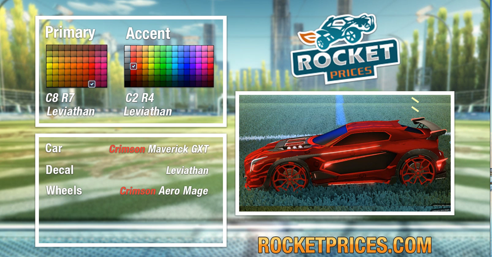 Rocket League Crimson Maverick GXT