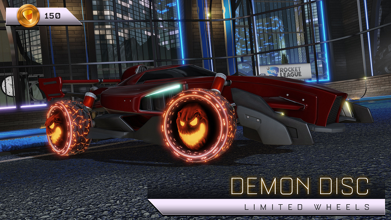 Rocket League Haunted Hallows Items - Limited Wheels - Demon Disc