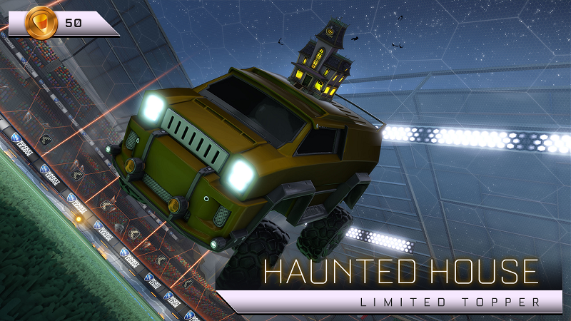 Rocket League Haunted Hallows Items - Limited Topper - Haunted House