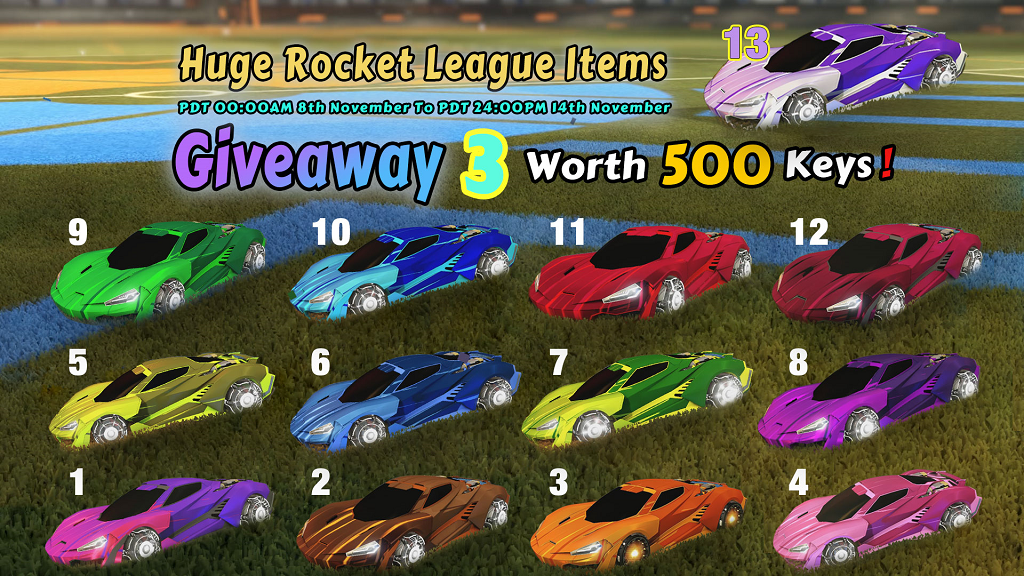 Huge Weekly Giveaway 3, Worth 500 Keys - 13 Painted Rocket League Black Market Wet Paint Decals
