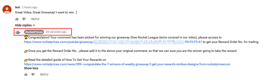 giveways get rewards 1