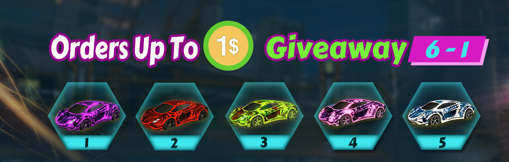 huge weekly giveaway 6-1 - 5 painted rocket league endo cars designs