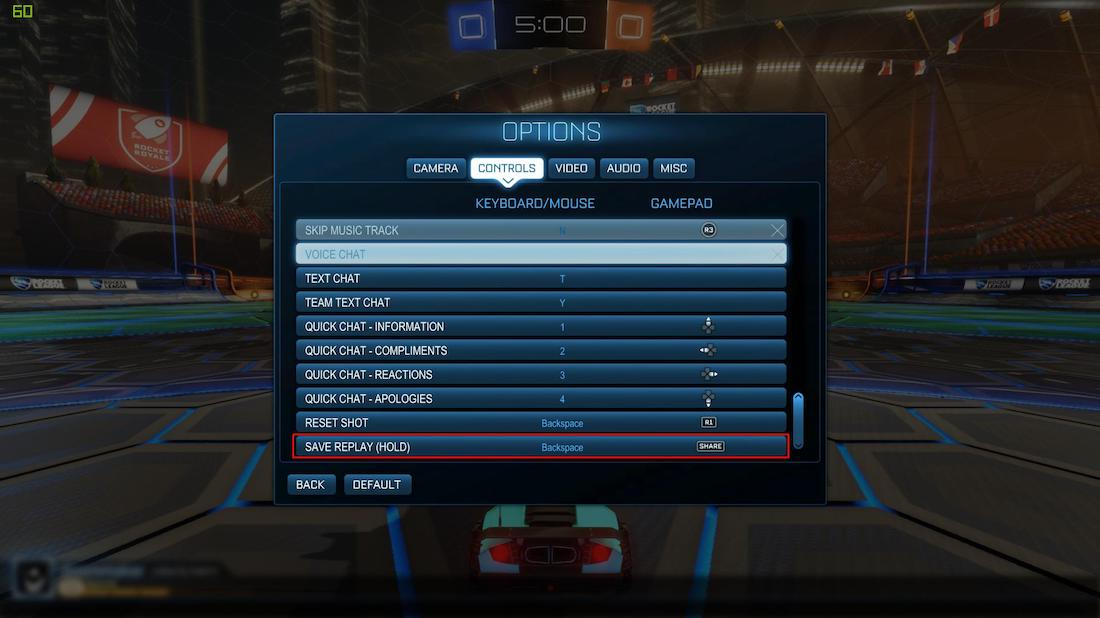 ROCKET LEAGUE SAVE REPLAYS - PC