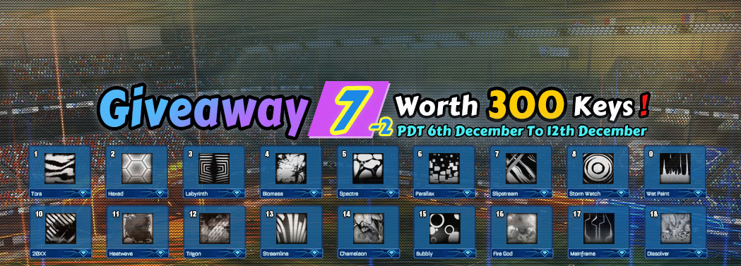 ROCKETPRICES Huge Weekly Giveaway 7-2 - Win 18 Free Rocket League Black Decals