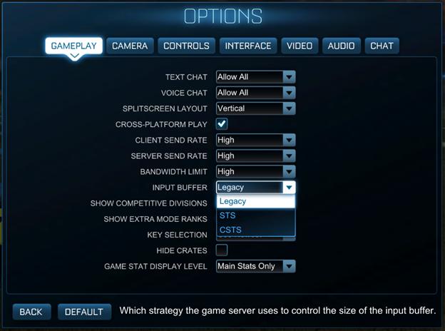Rocket League Best Input Buffer Settings - Which One You