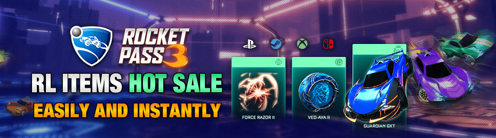 Fast To Buy Rocket League Rocket Pass 3 Items On RocketPrices