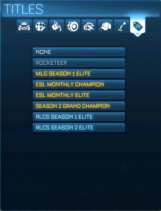 Rocket League Titles