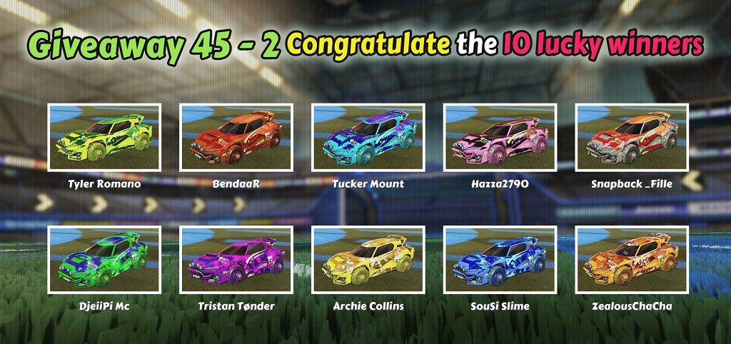 10 Winners Of Weekly Giveaway 45-2, Claim Your Rewards - Painted Mudcat GTX Designs From Rocketprices