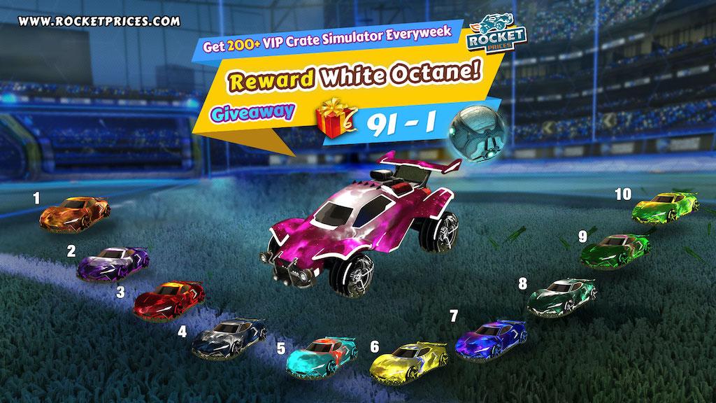 Win 10 Free Painted Peregrine Tt Designs Cntct 1 Infinite Interstellar White Octane Rocket League Giveaway 91 1
