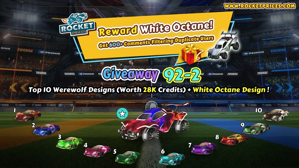 Rocketprices Rocket League Free Items 92-2 Giveaway
