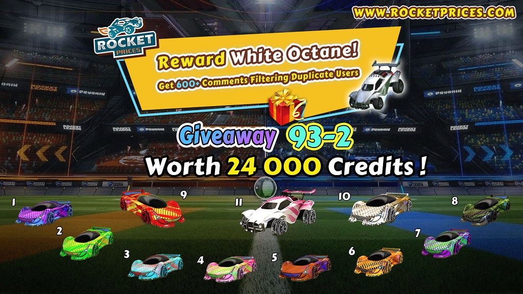 FREE Rocket League Items Giveaway 93-2 - Rocketprices
