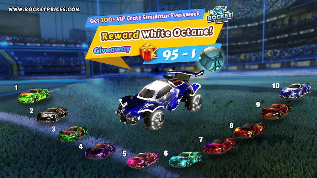 Win 10 Free Painted Peregrine Tt Designs Interstellar Cntct 1 White Octane Rocket League Giveaway 95 1