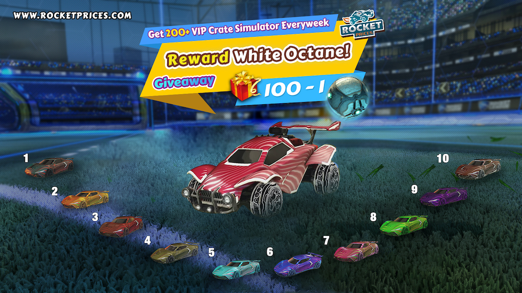 Rocket League Giveaway 100-1 - RocketPrices