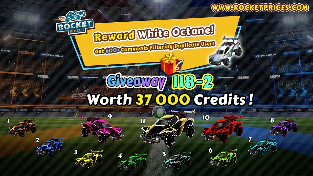 FREE Rocket League Items Giveaway 118-2 - Rocketprices